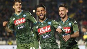 El Nápoles alerta al equipo de Setién a cuatro días de la Champions (ES)