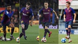 Nelson Semedo, Sergi Roberto, Thomas Vermaelen y Juan Miranda son las opciones de Ernesto Valverde para el lateral izquierdo en San Mamés
