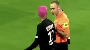 Neymar, desquiciado con el árbitro: le sacan amarilla tras hacer un regate... ¡y luego discuten a gritos en vestuarios!