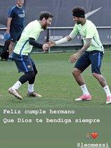 Neymar felicitó a Messi en Instagram
