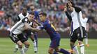 Philippe Coutinho en acción en el duelo del Camp Nou de la Liga 2017/18 entre Barça y Valencia