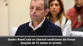 Sandro Rosell, en libertad provisional