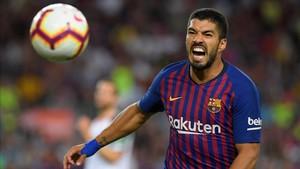 Suárez, en el partido ante el Alavés