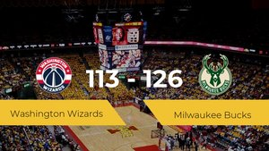 Triunfo de Milwaukee Bucks ante Washington Wizards por 113-126