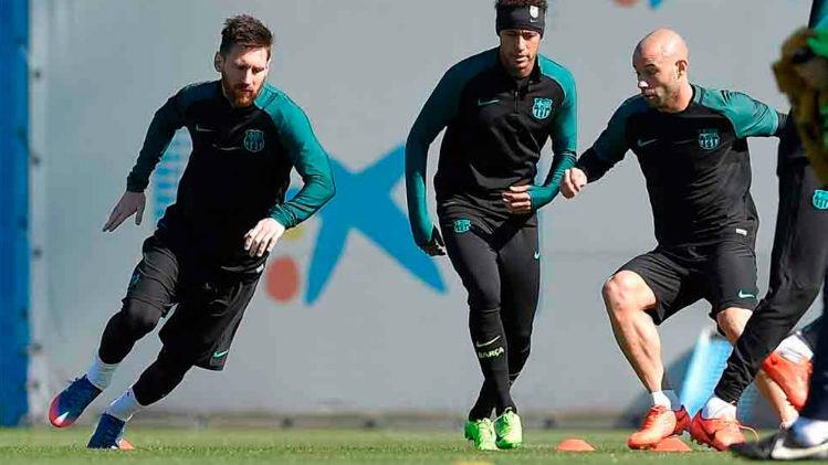 Último entrenamiento del Barça antes de enfrentarse a la Juventus