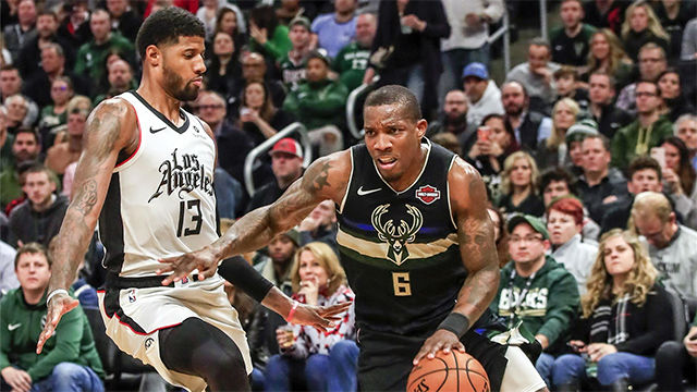Victoria de Milwaukee Bucks a Los Angeles Clippers (119-91)