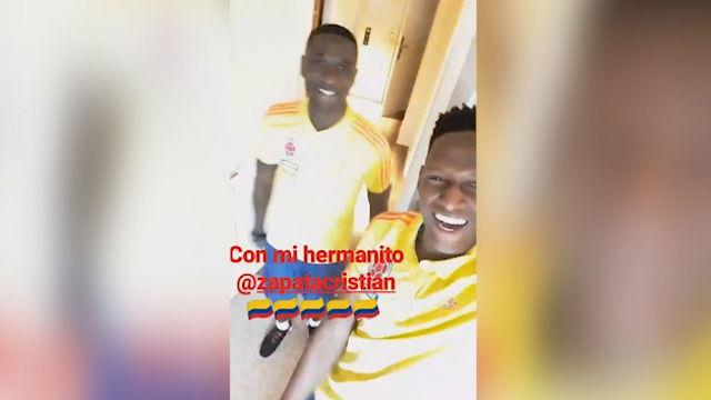 Yerry Mina ya baila en Colombia
