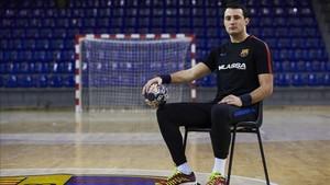 Aitor Ariño, muy motivado ante la visita del Vardar