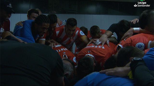 Así fue la arenga del Girona antes de asaltar el Camp Nou