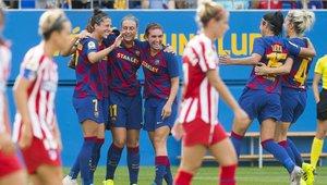 El Barça ganó por goleada al Atlético en el Johan Cruyff