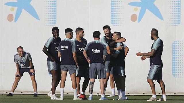 El Barça realizó el último entrenamiento antes de recibir al Girona