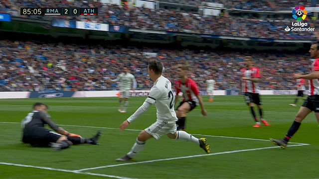 Brahim tuvo en sus botas su primer gol con la camiseta blanca