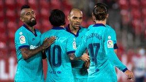 Braithwaite marcó en Mallorca su único gol oficial con el Barça