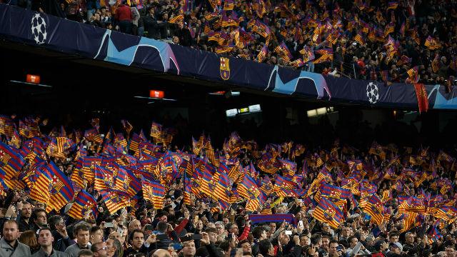 El Camp Nou celebró el gol de De Ligt