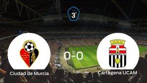 El Ciudad de Murcia y el Cartagena F.C. UCAM empatan y se llevan un punto (0-0)