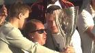 El Copenhague celebró la Copa con su mejor aficionado