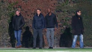 Eric Abidal se ha acercado a la Ciutat Esportiva para ver al Cadete A