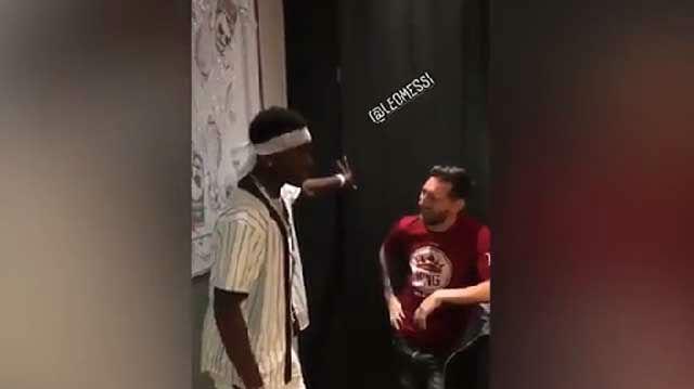 Esta es la conversación de Messi y Pogba en Dubai