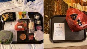 La foto de la comida que les dan a los jugadores de la NBA en La Burbuja