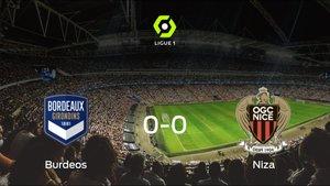 El FC Girondins Burdeos y el OGC Niza empatan sin goles en el Matmut Atlantique (0-0)