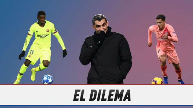 El gran dilema de Valverde: ¿Coutinho o Dembélé?