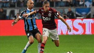 Imagen del duelo de ida entre Gremio y Flamengo