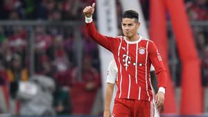 James cuajó un gran encuentro ante el Leipzig
