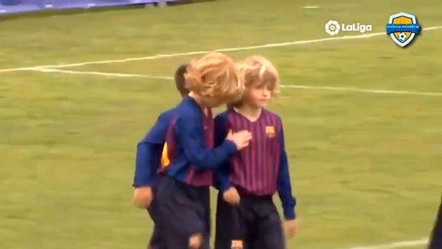 La jugada de crack de un Benjamin del Barça