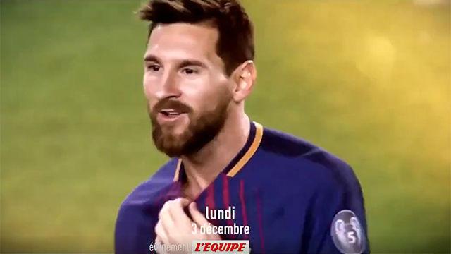 LÉquipe publicó el vídeo promocional de la próxima gala del Balón de Oro
