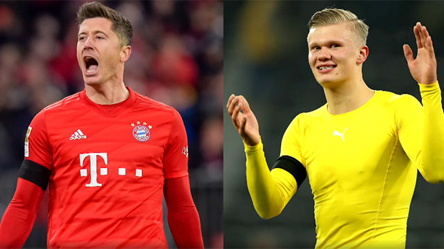 Lewandowski vs. Haaland, duelo de killers