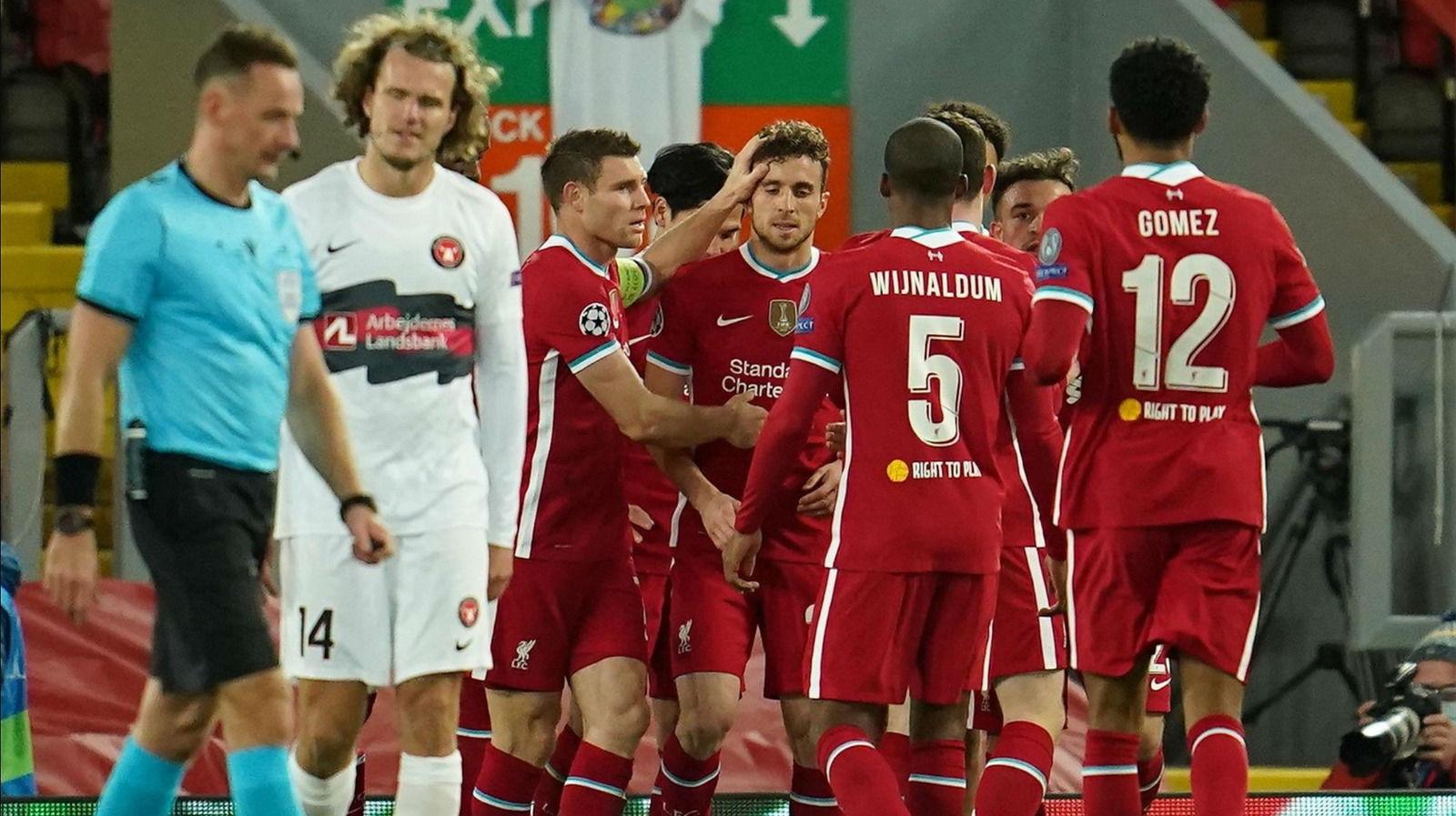 El Liverpool doblega al Midtjylland