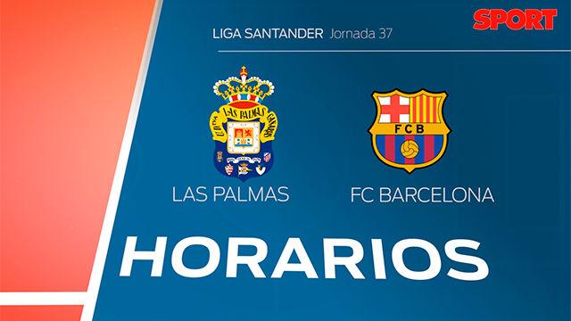 Los horarios de Las Palmas - FC Barcelona