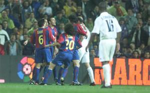 Luis Enrique recibió un manotazo de Zidane