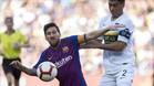 Messi, en una acción durante el duelo ante Boca