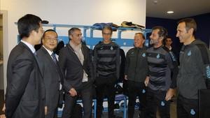 El presidente del Espanyol ratifica su apuesta por el entrenador