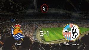 La Real Sociedad B consigue la victoria en casa frente al Salamanca UDS (3-1)