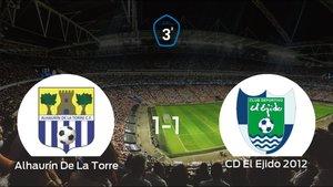Reparto de puntos entre el Alhaurín De La Torre y el CD El Ejido 2012 (1-1)