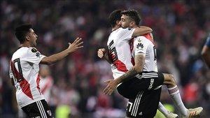 River Plate celebró la conquista de la Copa Libertadores