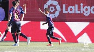 Shane Kluivert celebra su tanto en los cuartos de final