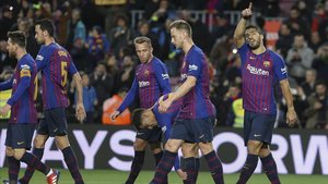 Suárez marcó a pase de Coutinho ante el Eibar