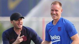 Ter Stegen y Valverde analizan el Borussia Dortmund-Barça