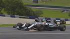 El toque de los dos Mercedes en Austria