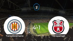 El Torredonjimeno logra una trabajada victoria en casa frente al Torreperogil (4-1)