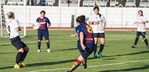 Una imagen del primer partido internacional disputado por el ABJ Femenino, en Aegion (Grecia)