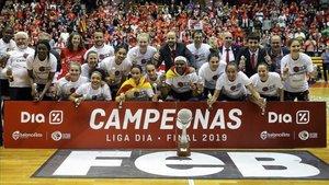 El UNI Girona, tras conquistar la pasada Liga Dia femenina