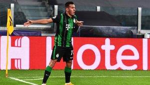 Uzuni celebró su gol en el Juventus-Ferencvaros a lo Cristiano Ronaldo