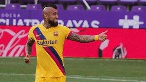 Vidal volvió a resolver un partido para el Barça