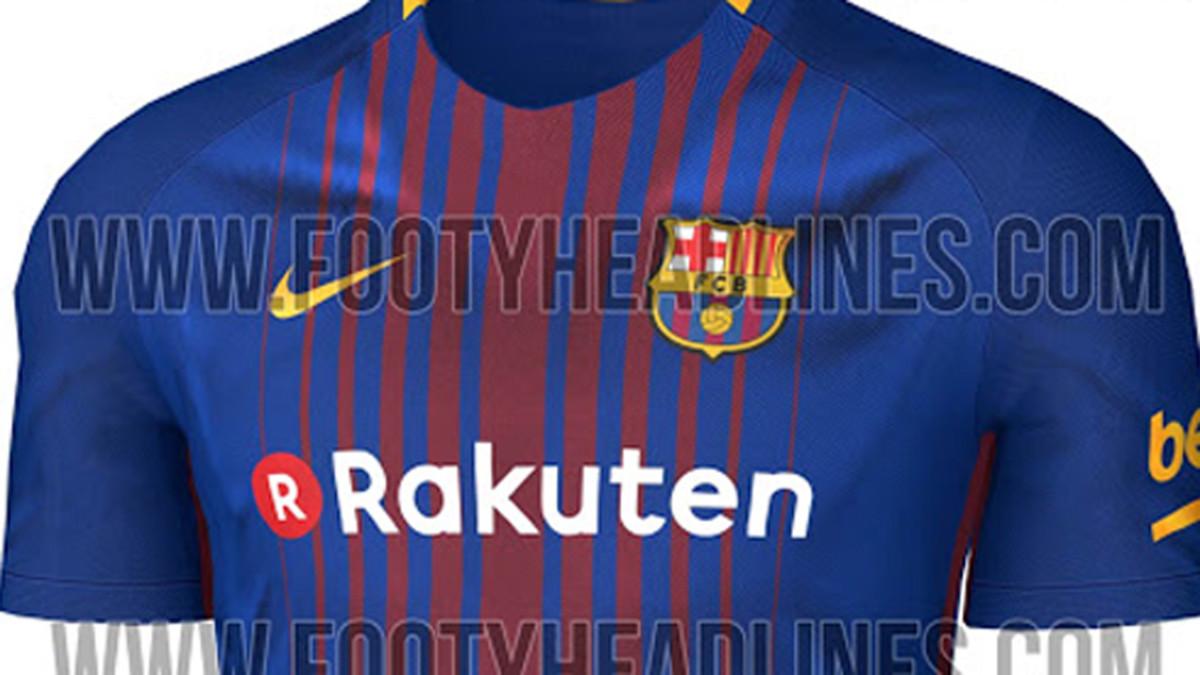 Así será la camiseta oficial del FC Barcelona 2017   2018 139e4ec10a2