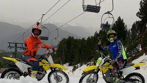 Rins y Mir, en moto por Vallnord