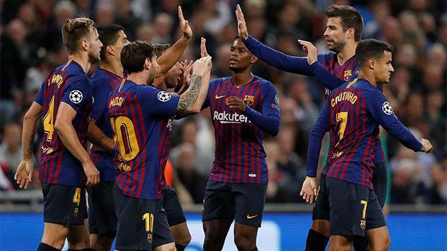 El 1x1 del Barça ante el Tottenham